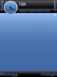 Black Ice Blue Theme for Nokia N70/N90