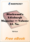 Blackwood's Edinburgh Magazine - Volume 55, No. 341, March, 1844 for MobiPocket Reader