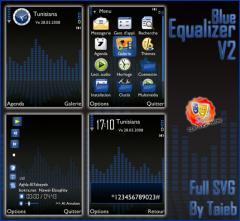 Blue Equalizer 2 SVG Theme