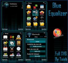 Blue Equalizer SVG Theme