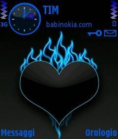 Blue Heart Theme for Nokia N70/N90