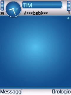 Blue Hole Theme for Nokia N70/N90