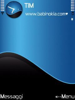 Blue Wave Theme for Nokia N70/N90