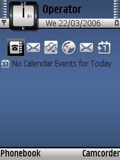 Blue White Theme for Nokia N70/N90