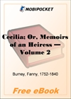 Cecilia; Or, Memoirs of an Heiress - Volume 2 for MobiPocket Reader