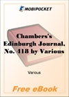 Chambers's Edinburgh Journal, No. 418 Volume 17, New Series, January 3, 1852 for MobiPocket Reader