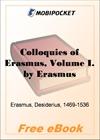 Colloquies of Erasmus, Volume I for MobiPocket Reader