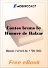 Contes bruns for MobiPocket Reader