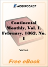 Continental Monthly, Vol. I. February, 1862, No. II for MobiPocket Reader