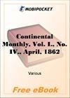 Continental Monthly, Vol. I., No. IV., April, 1862 for MobiPocket Reader