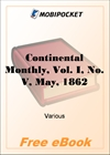 Continental Monthly, Vol. I, No. V, May, 1862 for MobiPocket Reader