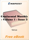 Continental Monthly - Volume 1 - Issue 3 for MobiPocket Reader