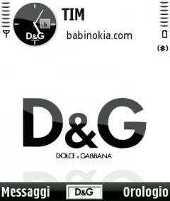 D&G Theme for Nokia N70/N90