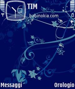 Dark Sea Flower Theme for Nokia N70/N90