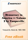 Democracy in America - Volume 2 for MobiPocket Reader