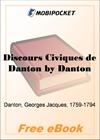 Discours Civiques de Danton for MobiPocket Reader