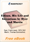 Edison, His Life and Inventions for MobiPocket Reader