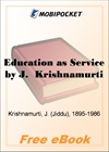 Education as Service for MobiPocket Reader