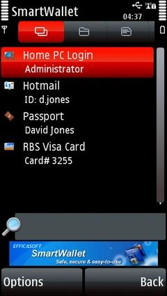 Efficasoft SmartWallet (Symbian)