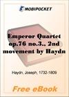 Emperor Quartet op.76 no.3., 2nd movement for MobiPocket Reader