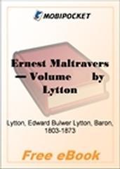 Ernest Maltravers, Volume 1 for MobiPocket Reader