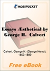 Essays Aesthetical for MobiPocket Reader