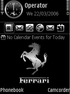 Ferrari 2 Black Theme for Nokia N70/N90