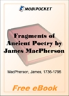 Fragments of Ancient Poetry for MobiPocket Reader