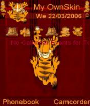 Garfield Cat Scratch Red Theme