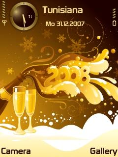 Gold Happy New Year SVG Theme
