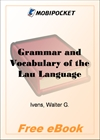 Grammar and Vocabulary of the Lau Language for MobiPocket Reader