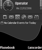 Gray Black Theme for Nokia N70/N90