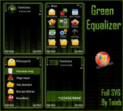 Green Equalizer SVG Theme