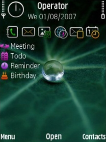 Green Leave Theme for Symbian S60 3rd Edition