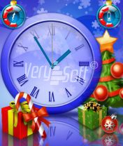 Happy New Year Style Analog Blue for NiceClock2