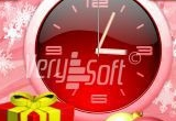 Happy New Year Style Analog Red for NiceClock2