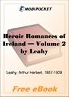Heroic Romances of Ireland - Volume 2 for MobiPocket Reader