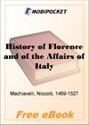 History of Florence and of the Affairs of Italy for MobiPocket Reader