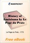 History of Louisisana for MobiPocket Reader