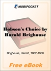Hobson's Choice for MobiPocket Reader