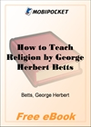How to Teach Religion for MobiPocket Reader