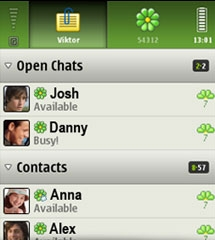 ICQ Messenger for Symbian