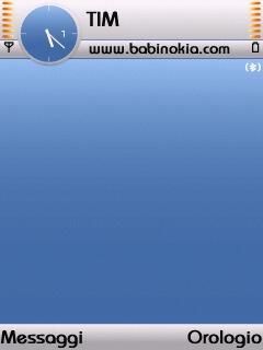 Ice Blue Theme for Nokia N70/N90