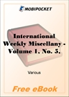 International Weekly Miscellany - Volume 1, No. 5, July 29, 1850 for MobiPocket Reader