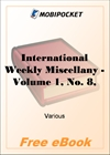 International Weekly Miscellany - Volume 1, No. 8, August 19, 1850 for MobiPocket Reader