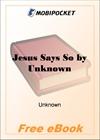 Jesus Says So for MobiPocket Reader