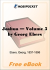 Joshua - Volume 5 for MobiPocket Reader