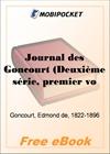 Journal des Goncourt (Deuxieme serie, premier volume) for MobiPocket Reader