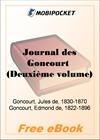 Journal des Goncourt (Deuxieme volume) for MobiPocket Reader
