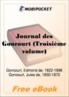 Journal des Goncourt (Troisieme volume) for MobiPocket Reader